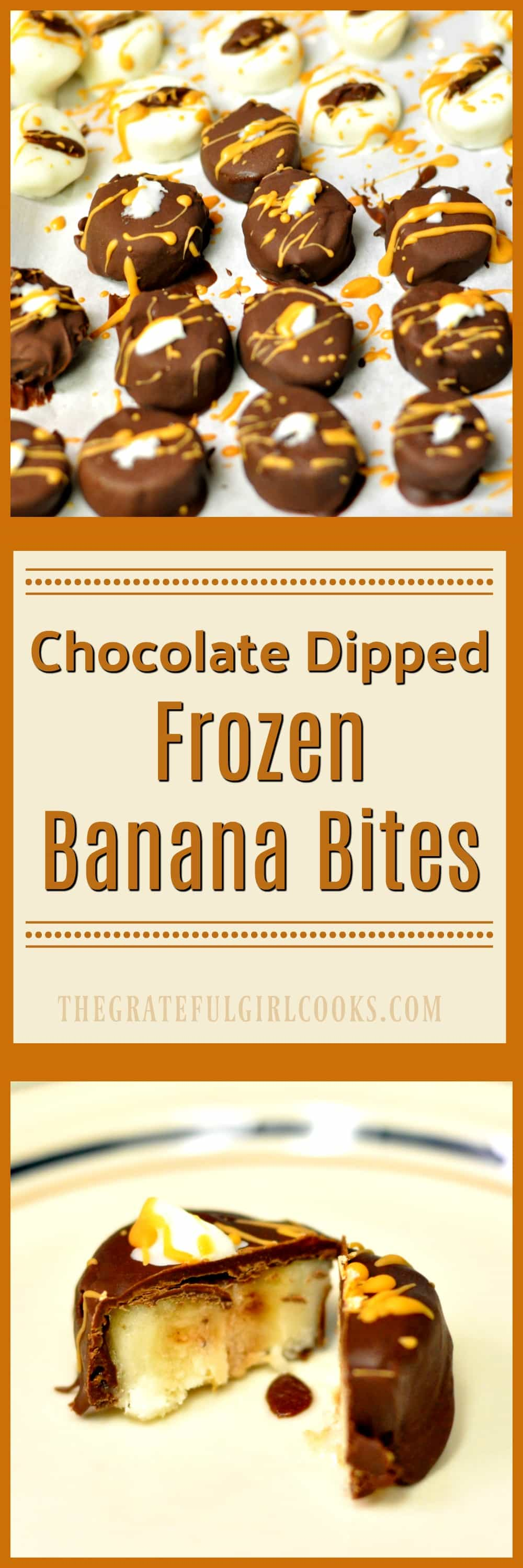 Chocolate Dipped Frozen Banana Bites / The Grateful Girl Cooks!