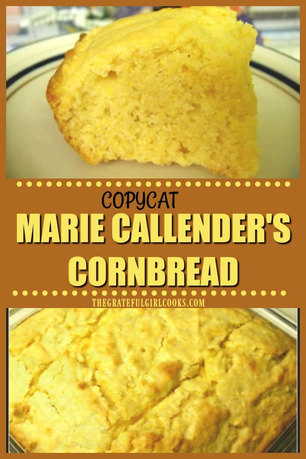It's EASY and quick to make and bake this copycat version of Marie Callender's restaurants famous cornbread! Perfect side dish for soup, salad, or main course.