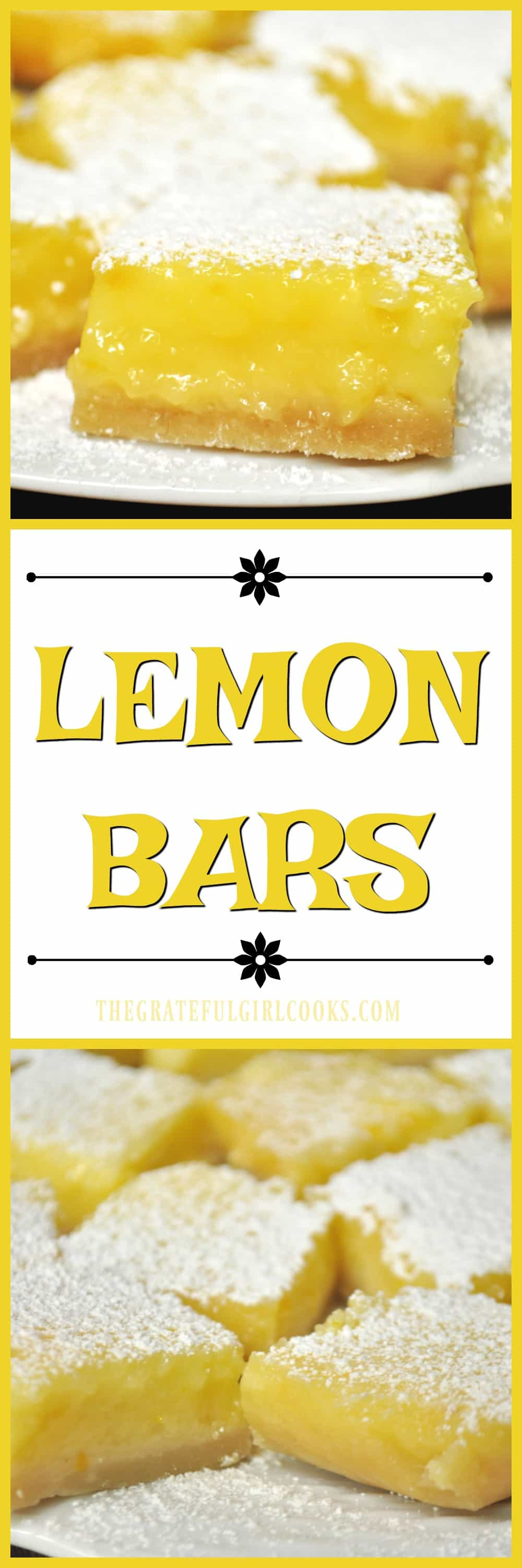 Lemon Bars / The Grateful Girl Cooks!