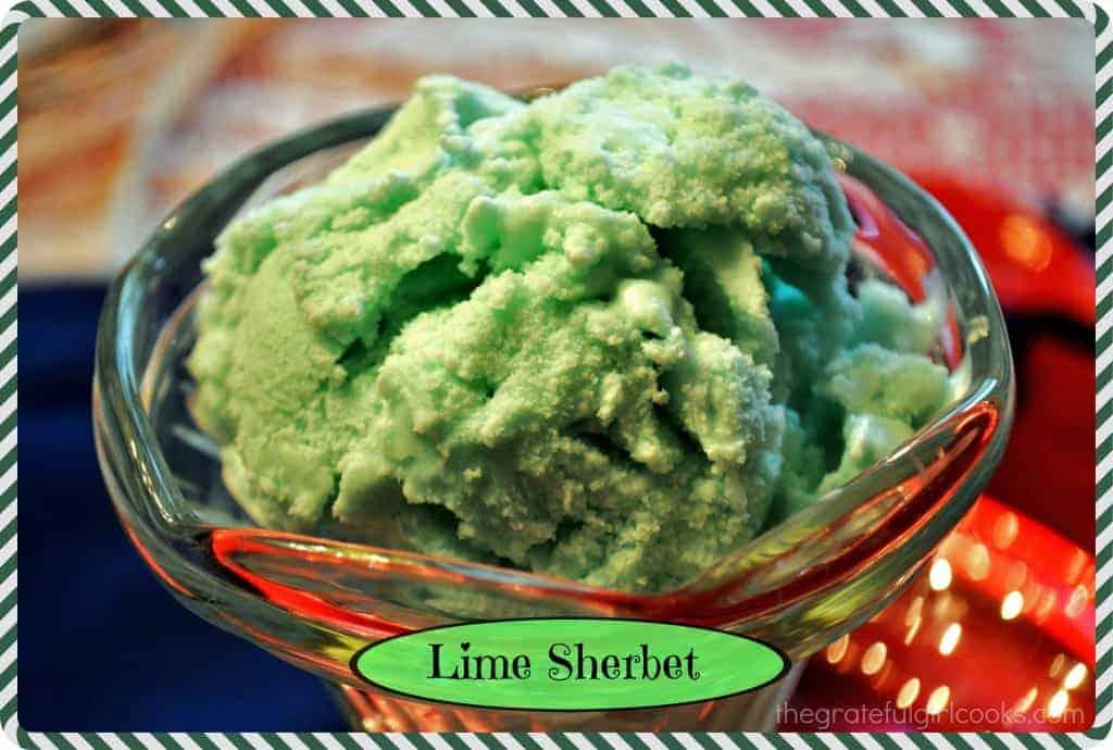 Lime Sherbet / the Grateful Girl Cooks!