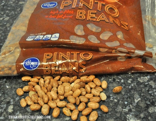Dried pinto beans are used to make this recipe.