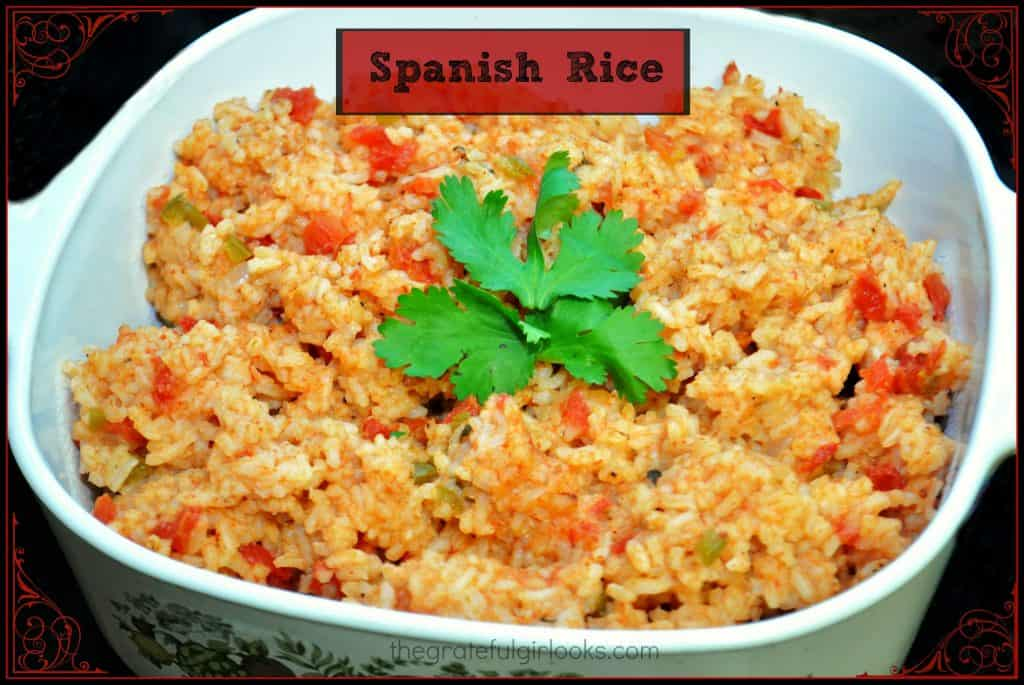 Spanish Rice / The Grateful Girl Cooks!