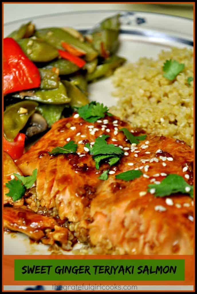 Sweet Ginger Teriyaki Salmon / The Grateful Girl Cooks!