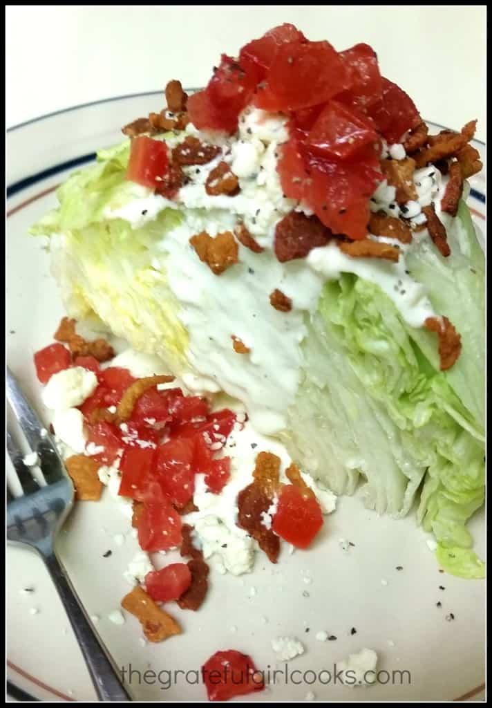 BLT Wedge Salad / The Grateful Girl Cooks!