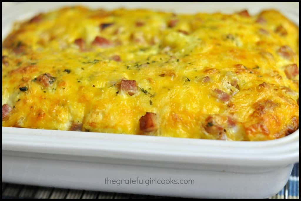 Ham n' Cheese Breakfast Souffle / The Grateful Girl Cooks!