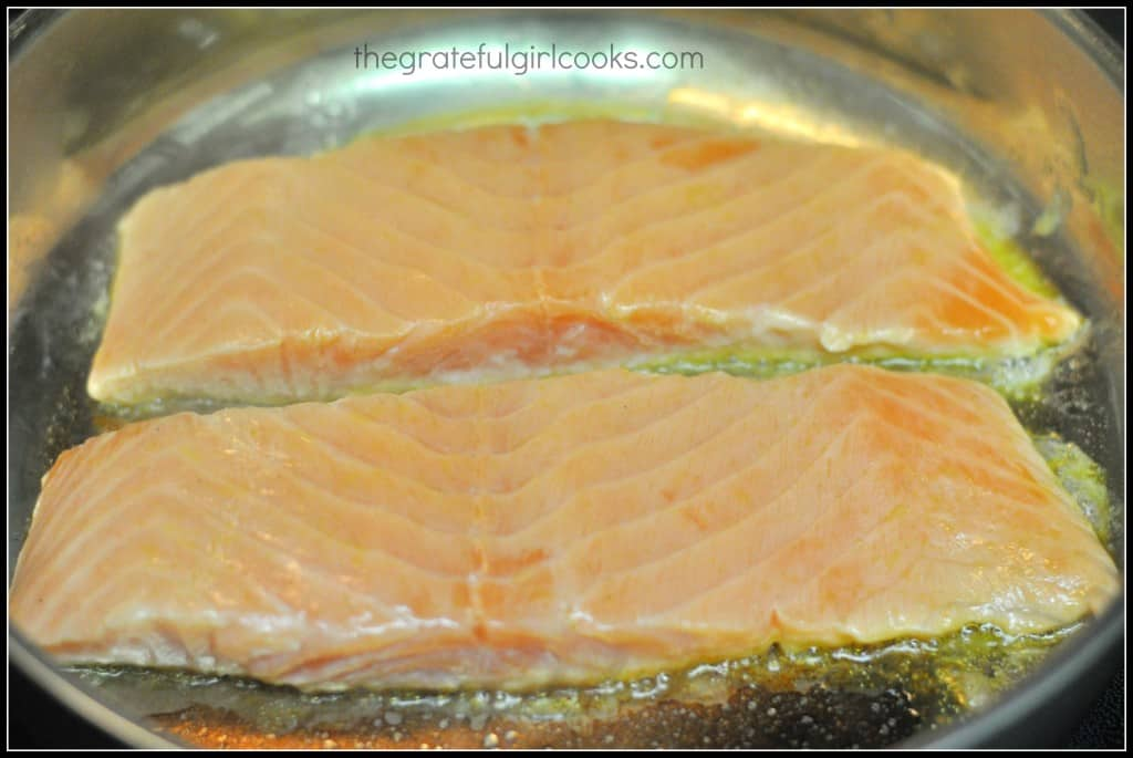 Grilled Salmon Fillets With Herb Butter Recipe — Dishmaps