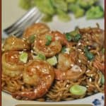 Shrimp and Noodles in Spicy Garlic Sauce