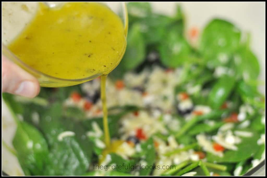 Spinach and Orzo Salad | The Grateful Girl Cooks!