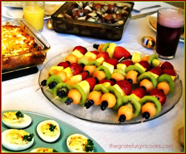 Fruit Kabobs / The Grateful Girl Cooks!
