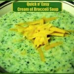 Quick N' Easy Cream of Broccoli Soup