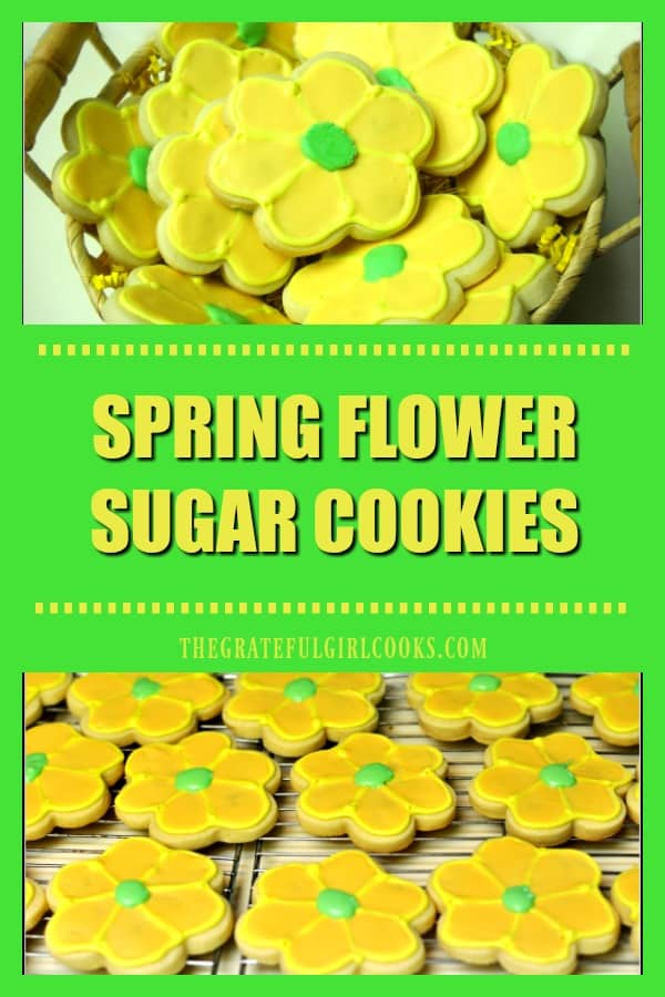 Celebrate the season with this easy recipe for delicious Spring Flower Sugar Cookies and royal icing to decorate them with.