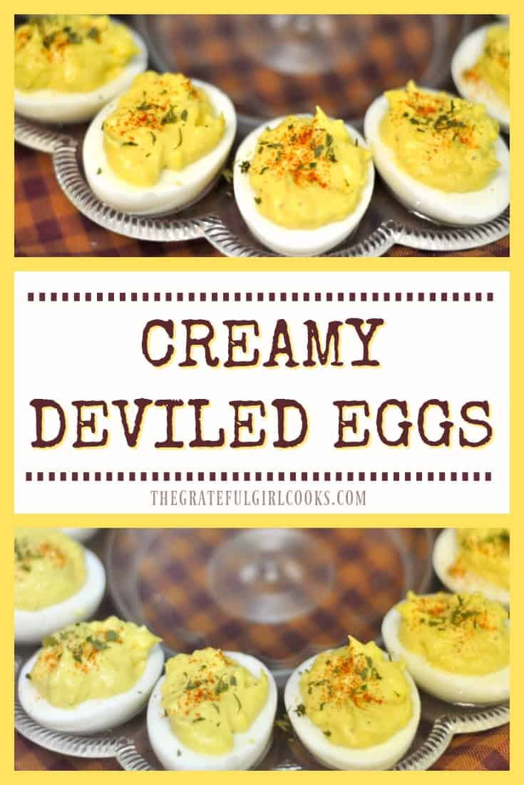 Creamy deviled eggs... easy and simple to prepare, and will be a hit appetizer or side dish at any celebration or potluck.