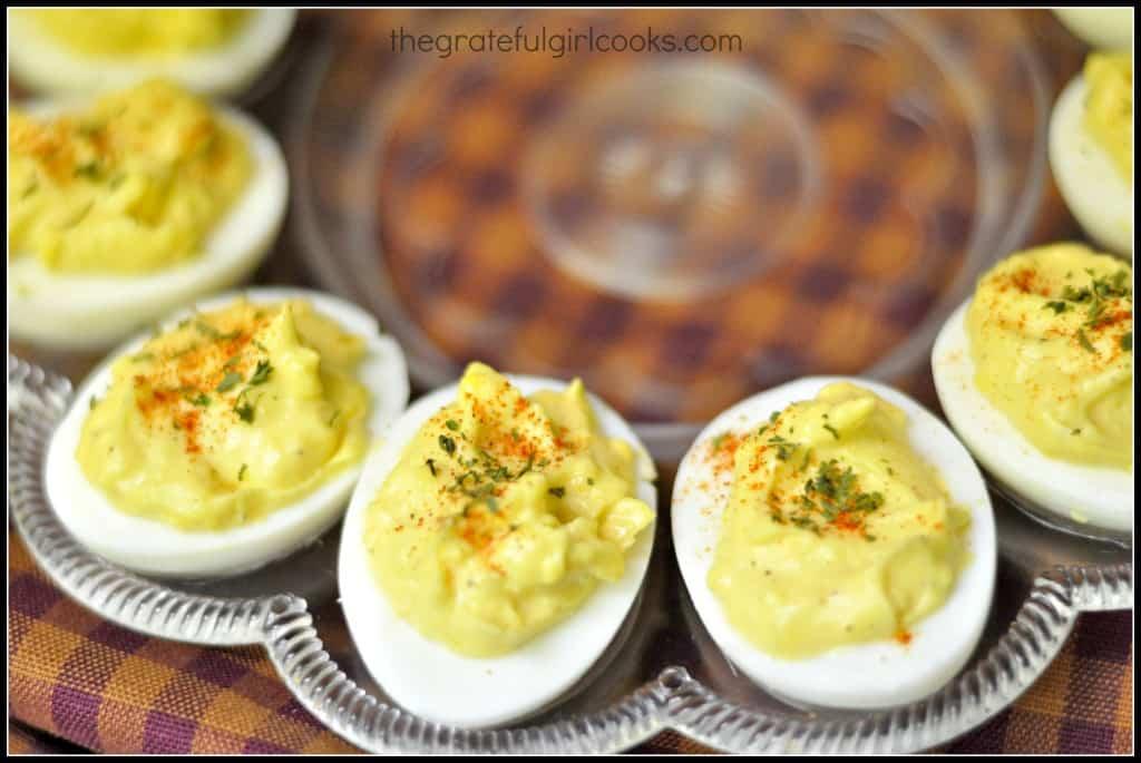 Creamy Deviled Eggs / The Grateful Girl Cooks!