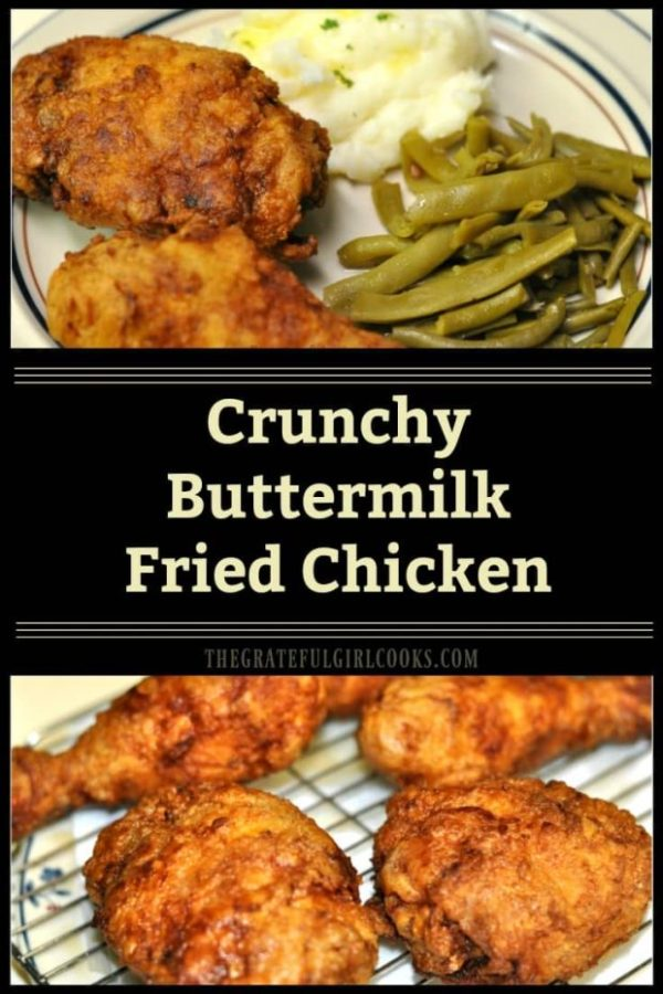 Why pay for a bucket of chicken for dinner when it's easy to make delicious, crunchy buttermilk fried chicken at home for a fraction of the cost?