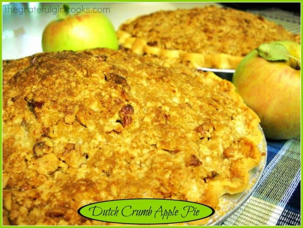 You're gonna LOVE Dutch Crumb Apple Pie! This classic apple pie, topped with buttery pecan streusel crumbs will be a hit with everyone who enjoys dessert!