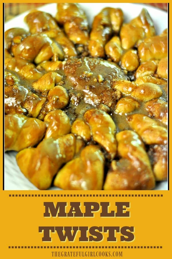 Maple Twists are delicious, made from scratch, maple-glazed pastry rings! The recipe makes 3 pastries (24 servings), so there's plenty for everyone to enjoy!