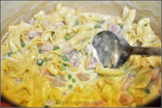 Pasta, Ham and Gruyere Casserole / The Grateful Girl Cooks!