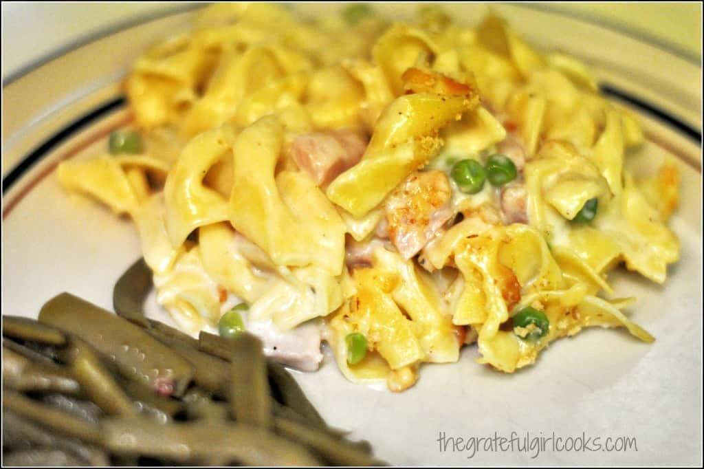 Pasta, Ham and Gruyere Casserole / The Grateful Girl Cooks!