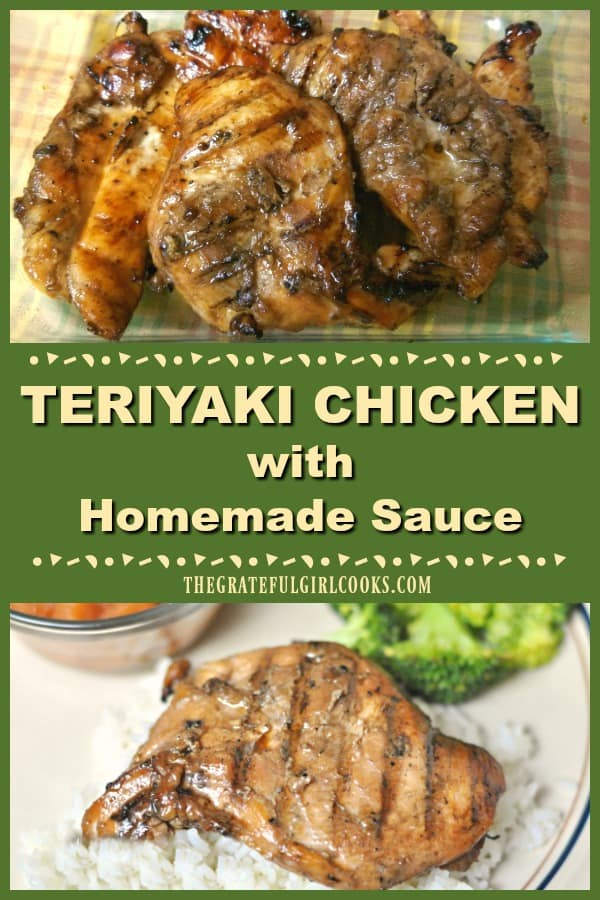 Teriyaki Chicken with Homemade Sauce / The Grateful Girl Cooks!