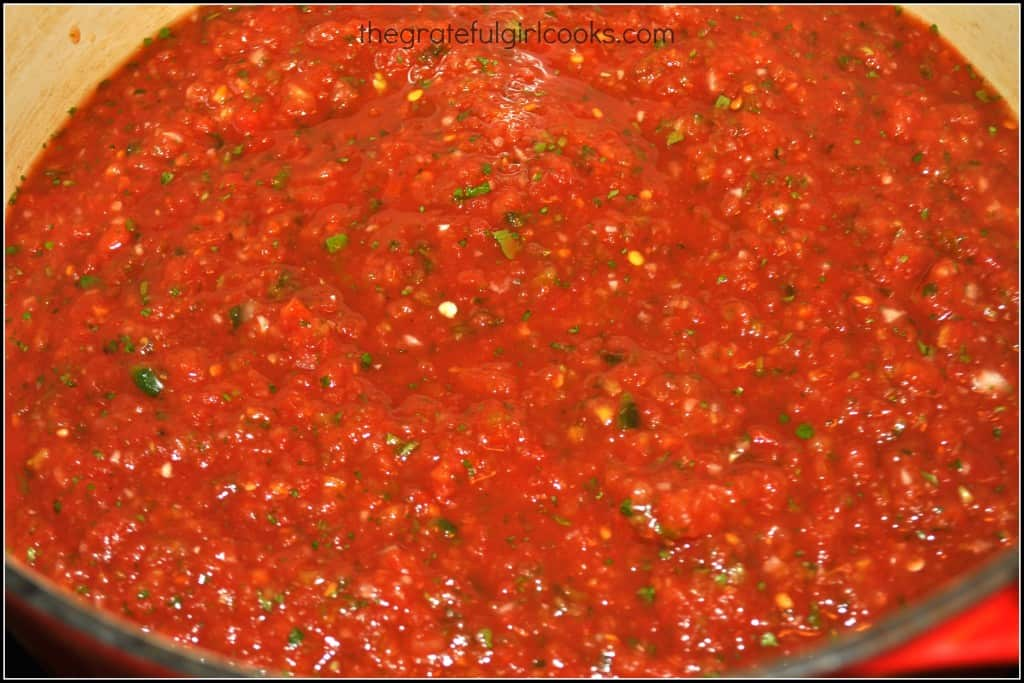 The Pioneer Woman's Salsa (and how to can it!) / The Grateful Girl Cooks!