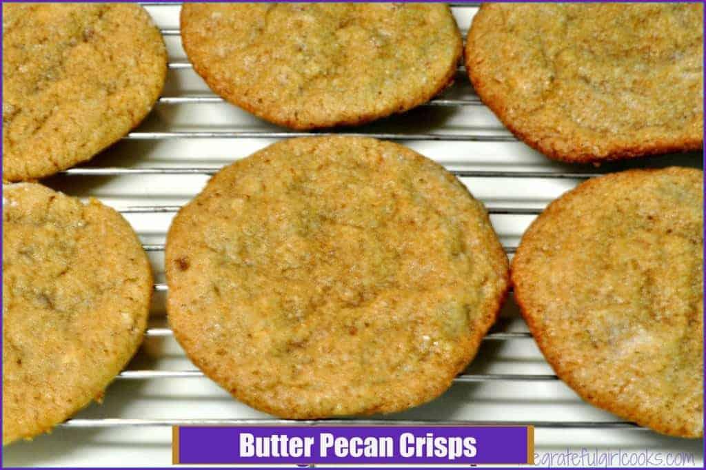 Butter Pecan Crisps / The Grateful Girl Cooks!