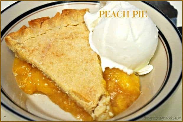 How about a slice of old-fashioned, made from scratch, fresh Peach Pie? Savor the flavors of summertime with this delicious, easy to make, homemade pie!