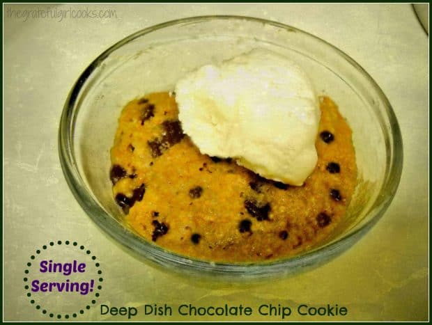 Single Serving Deep Dish Chocolate Chip Cookie / The Grateful Girl Cooks!