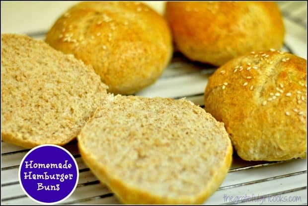 Learn how to make homemade hamburger buns from scratch! The recipe makes 15 buns, which are perfect for burgers and other sandwiches!