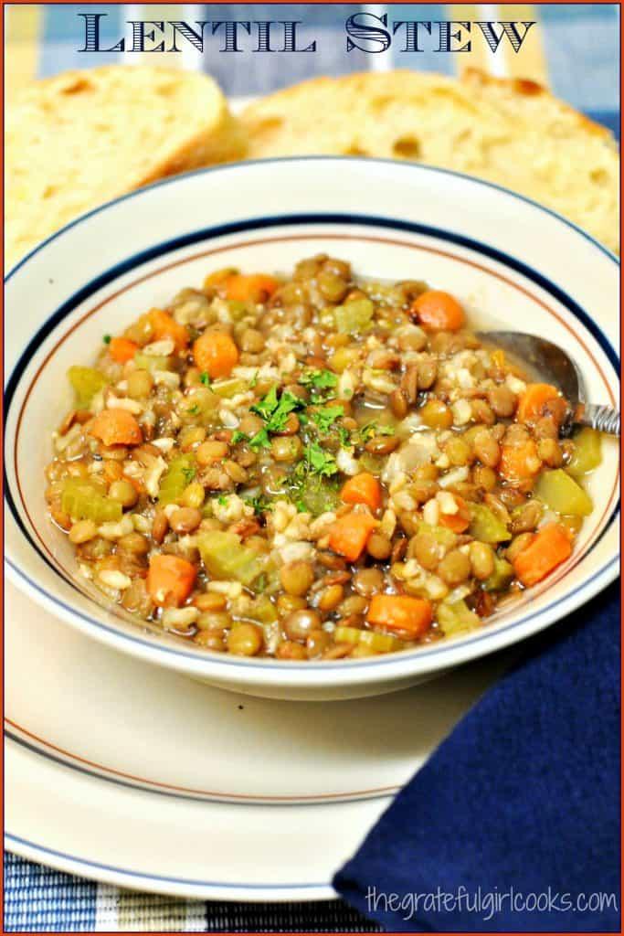 Lentil Stew / The Grateful Girl Cooks!