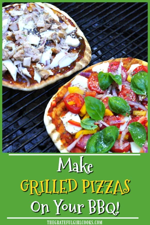 Learn how easy it is to make grilled pizzas on your BBQ grill, which helps keep your kitchen cool this Summer!