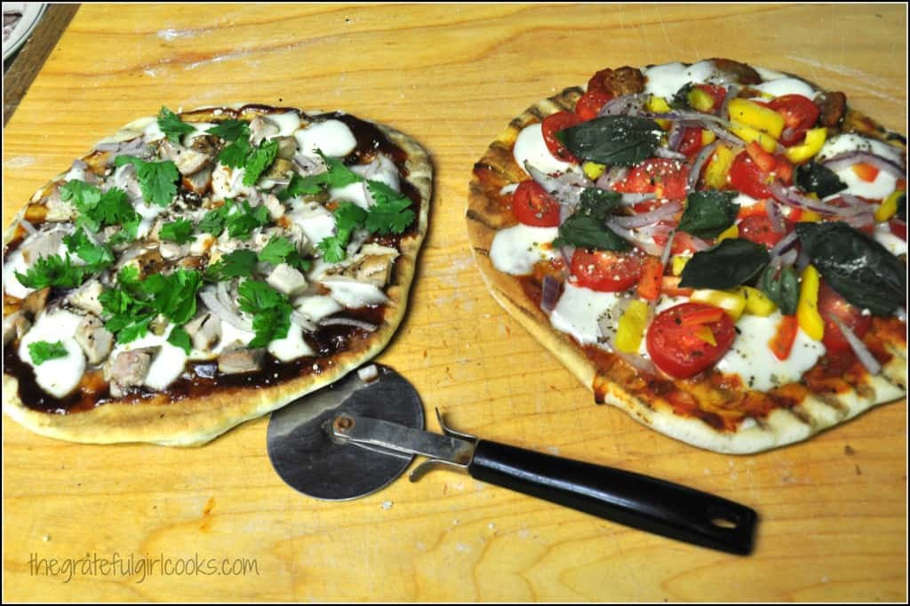 Make Grilled Pizzas On Your BBQ! / The Grateful Girl Cooks!