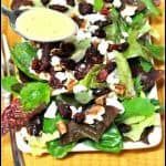 Mixed Greens, Cranberries, Feta & Pecans with a Creamy Lemon Dressing