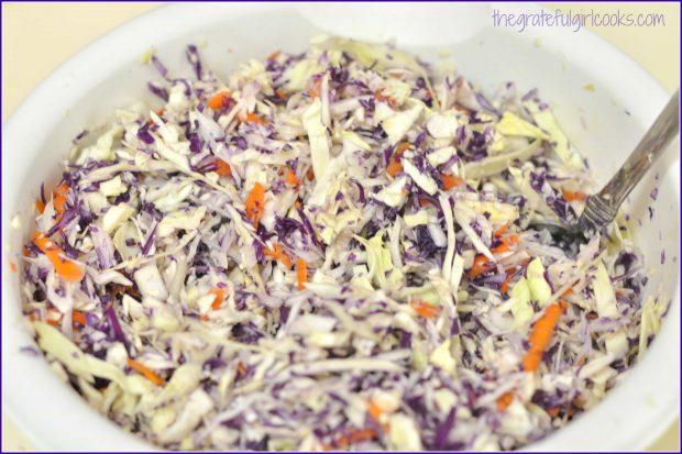 Purple Coleslaw / The Grateful Girl Cooks!