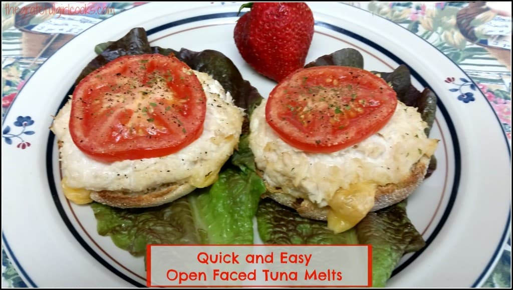 Quick and Easy Open Faced Tuna Melts / The Grateful Girl Cooks!
