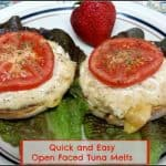 Quick and Easy Open Faced Tuna Melts