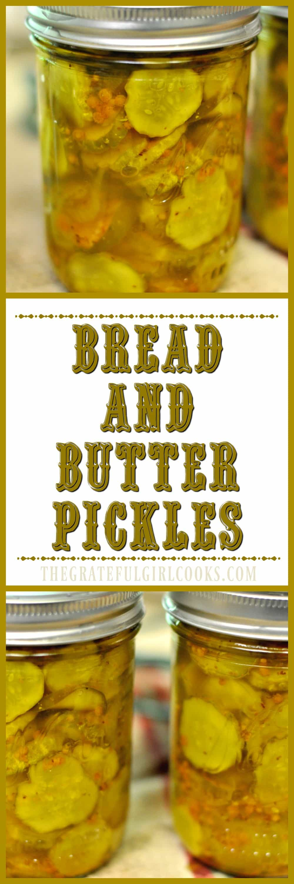 Bread and Butter Pickles / The Grateful Girl Cooks!
