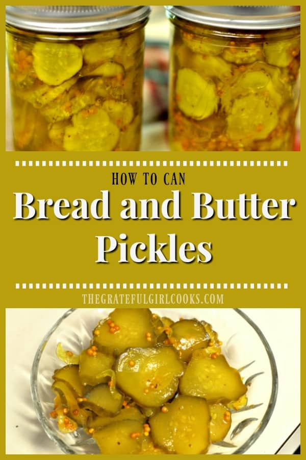 earn how to make traditional Bread and Butter Pickles, (perfect topping for burgers, sandwiches or just for snacking), and can the jars, for long term storage!
