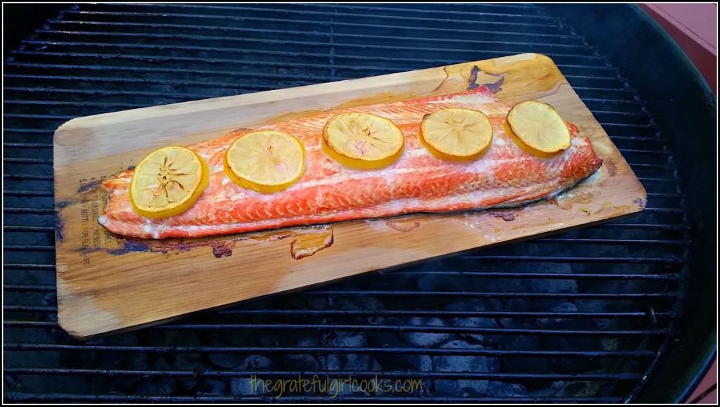 Cedar Plank Grilled Salmon / The Grateful Girl Cooks!