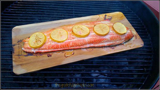 Cedar Plank Grilled Salmon / The Grateful Girl Cooks!