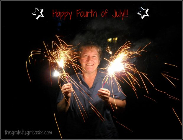 Sparklers lit, and wishing you a Happy 4th of July!