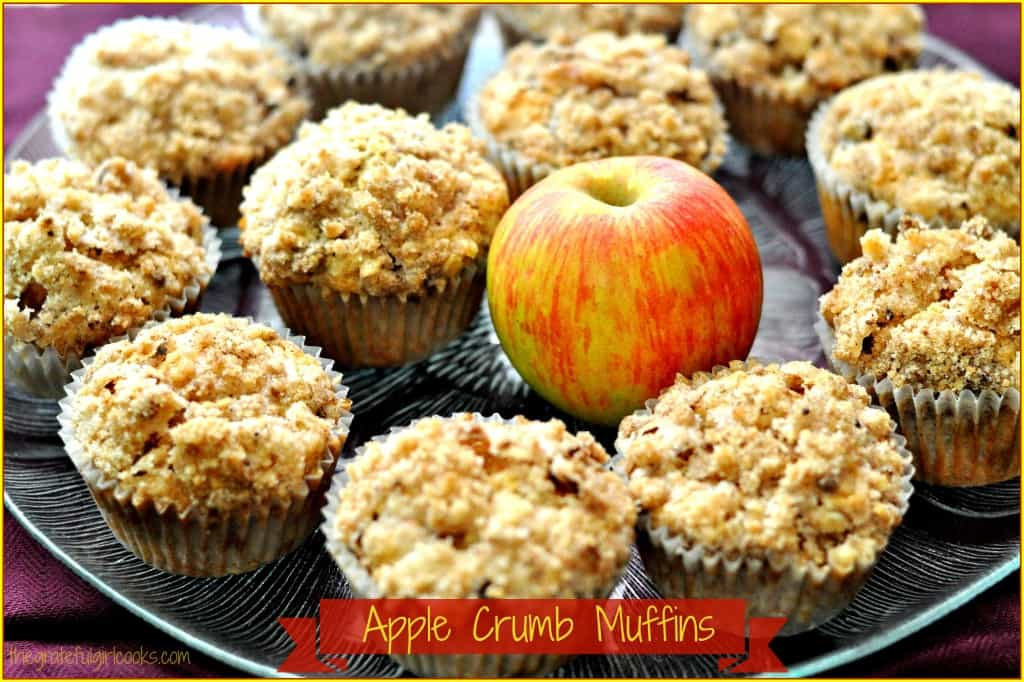 Apple Crumb Muffins / The Grateful Girl Cooks!