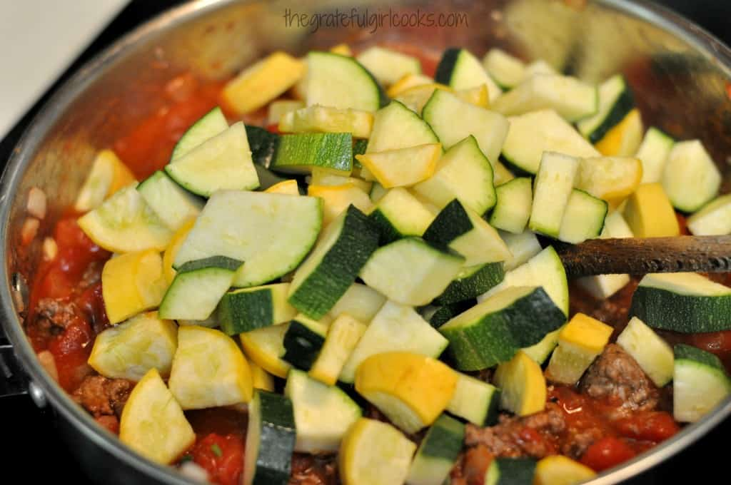Chili Mac With Summer Squash / The Grateful Girl Cooks!