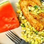 Mahi Mahi with Corn & Avocado Salsa