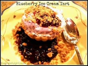 Blueberry Ice Cream Tart / The Grateful Girl Cooks!