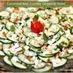 Cucumber And Zucchini Carpaccio Salad