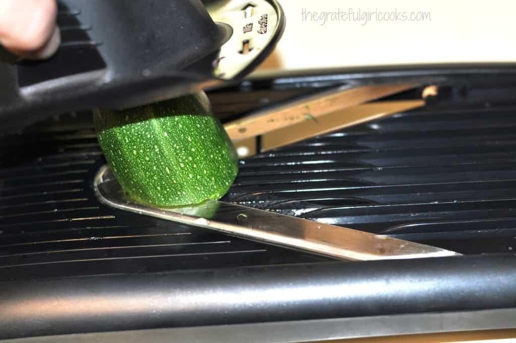 Cucumber And Zucchini Carpaccio Salad / The Grateful Girl Cooks!