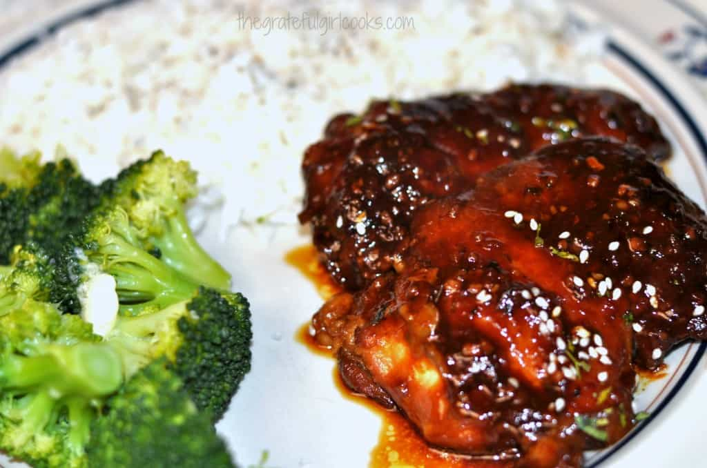 Honey Garlic Chicken (for crock pot) / The Grateful Girl Cooks!