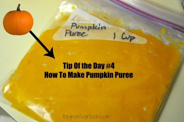 Tip Of The Day #4- How to Make Pumpkin Puree / The Grateful Girl Cooks!