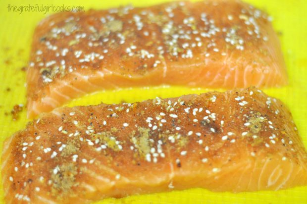 Brown Sugar Crusted Salmon / The Grateful Girl Cooks!