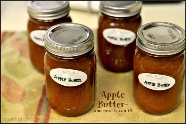 Smooth creamy apple butter is a delicious topping for toast, pound cake, or can be a sauce for roast pork. Learn how to can it with step by step instructions.